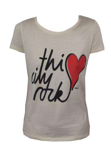 T-Shirt This City Rocks - Herz