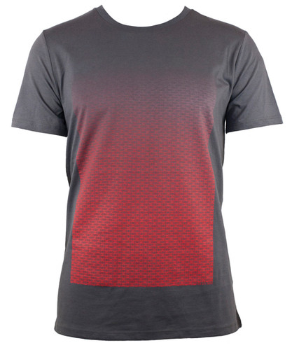 T-Shirt Verlauf Brandenburger Tor Grau Rot