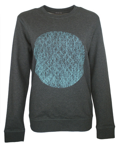 This City Rocks unisex Sweatshirt Kreis Anthrazit Blau