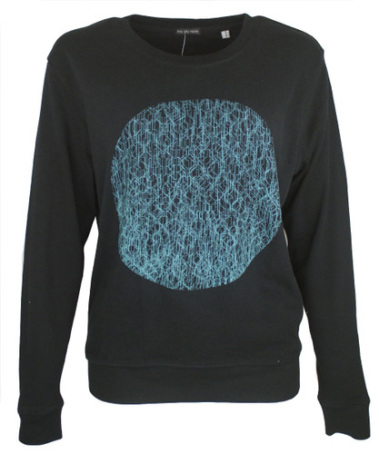 This City Rocks Sweatshirt Frauen Kreis Schwarz Blau