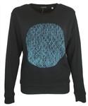 This City Rocks Sweatshirt Frauen Kreis Schwarz Blau 001