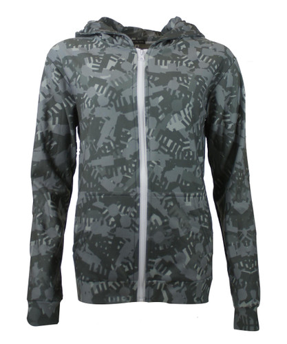This City Rocks Hoodie mit Zipper Brandenburger Tor/Fernsehturm Kaki/grau – Bild 1