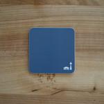 Coaster/Untersetzer mit Berlinmuster blau 001