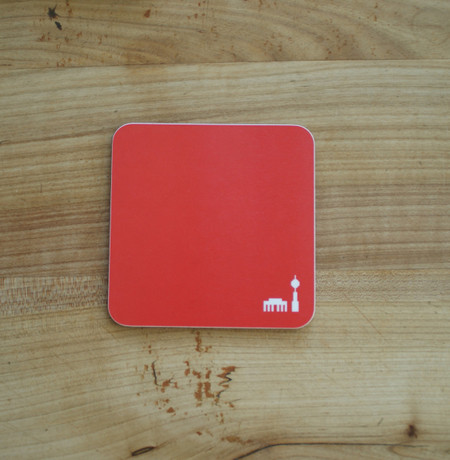 Coaster/Untersetzer mit Berlinmuster rot – Bild 1