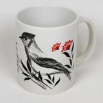 Tasse Berlin Vogel und Blumen 001