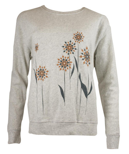 This City Rocks Sweatshirt Blumen hell-grau – Bild 1
