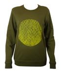 This City Rocks unisex Sweatshirt Kreis Kaki/gelb 001