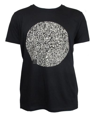 T-Shirt Fernsehturm Kreis schwarz/creme