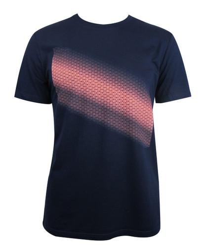 T-Shirt Verlauf Brandenburger Tor diagonal blau/neon