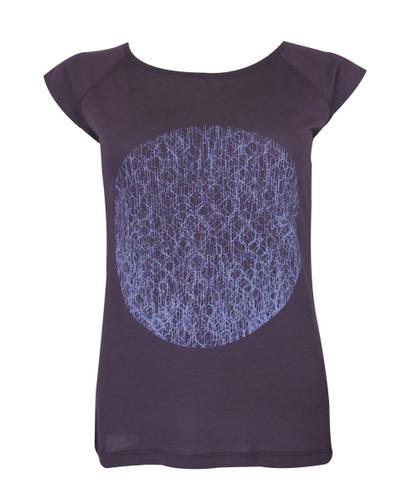 T-Shirt Verlauf Kreis Fernsehturm lila/lila