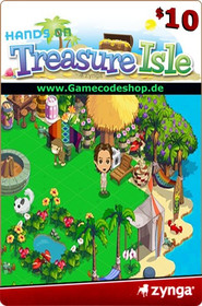 Treasure Isle 10 USD - Zynga Game Card