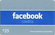 Facebook 25 USD Code Card