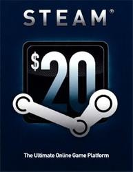Steam Guthaben Karte - Wert 20 USD