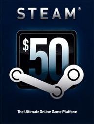 Steam Guthaben Karte - Wert 50 USD