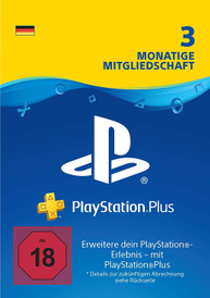 PlayStation Network Plus 3 Monate Mitgliedschaft - PSN Plus Card (DE)