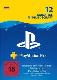 PlayStation Network Plus 12 Monate Mitgliedschaft - PSN Plus Card (DE)
