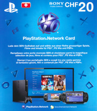 PlayStation Network Card (CH) PSN Wert 20 CHF