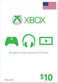 Xbox One Live 10 USD Guthaben