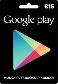 Google Play Card Wert 15 EUR