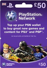 PlayStation Network Card (UK) PSN Wert 50 GBP