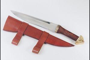 Saxmesser der Wikinger, Kohlenstoffstahl, Länge: 45 cm