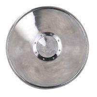 Kampfschild aus Stahl mit Lederbändern, Durchmesser: ca. 61 cm