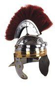 Römischer Offiziershelm aus Rüstungsstahl in Körpergröße