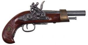 Steinschlosspistole, reich verziert, nicht schussfähig, 30 cm Nr. 64144