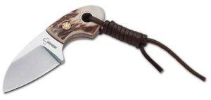 Böker Plus Gnome Stag Messer, 12C27-Klinge: 5,6 cm
