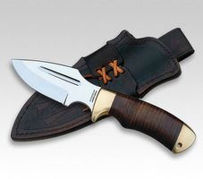Down Under Knives The BUSHMATE, 440C Klinge 15cm Ledergriff, Lederscheide