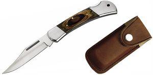 Herbertz Set: Taschenmesser, 11 cm + Lederetui