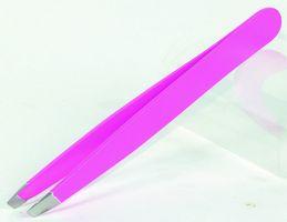 EKS Pinzette Slant 10 cm neon pink