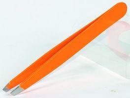 EKS Pinzette Slant 10 cm neon orange
