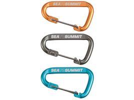 Sea to Summit ACCESSORY CARABINERS, Karabiner-Set, 3-teilig, Kleinkarabiner mit Draht-Schnapper
