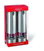 Cole & Mason Battersea 2 elektronische Mühlen im Geschenkset 210mm