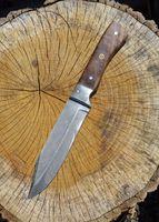 Bowiemesser mit Klinge aus Federdamast, ca. 31 cm