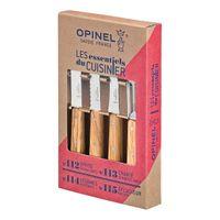 Opinel Küchenmesser-Set, 4-teilig, rostfreier Sandvik-Stahl, Olivenholz-Griffe