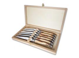 Goyon-Chazeau Laguiole Steakmesser Set Wachholder 02GC001