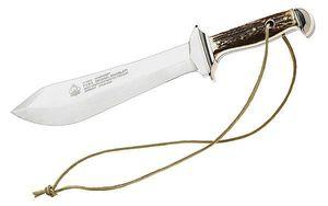 Puma Waidblatt couteau, 1.4116, corne de cerf, fourreau en cuir