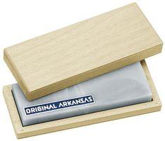 Arkansas Pierre a aiguiser, fin, box en bois, 15 cm