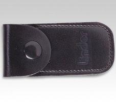 Linder Nagelknipser-Etui schwarz Echt Leder, klein