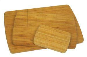 Bambus-Schneidebrett, braun, 38 x 25 x 1,8 cm