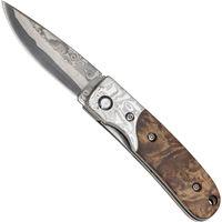 Haller Couteau Damas de Poche, 39 couche, cœur: 440C