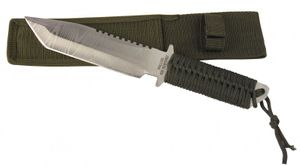 Haller Outdoormesser, Tantoklinge, Damast-Optik