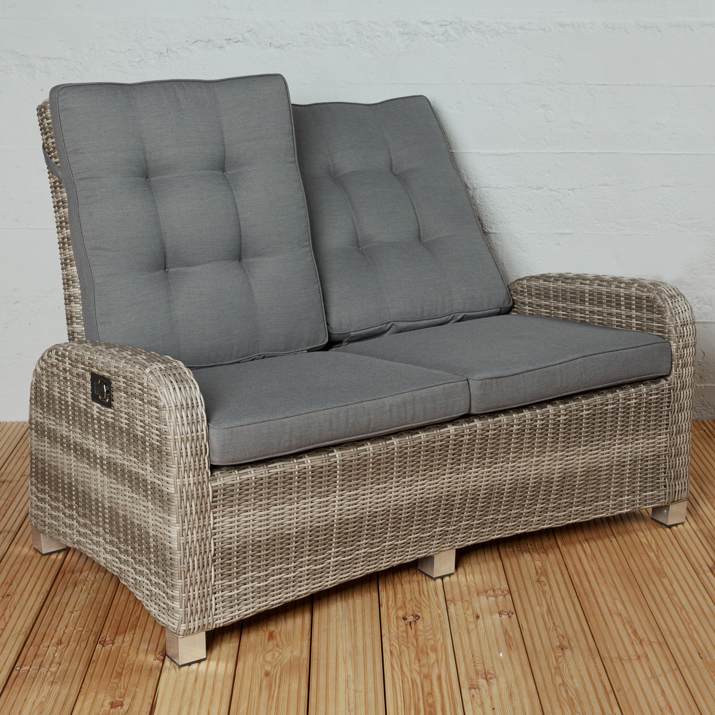 polyrattan 2 sitzer sofa braun couch ibiza lounge gartenm bel set gartensofa ebay. Black Bedroom Furniture Sets. Home Design Ideas