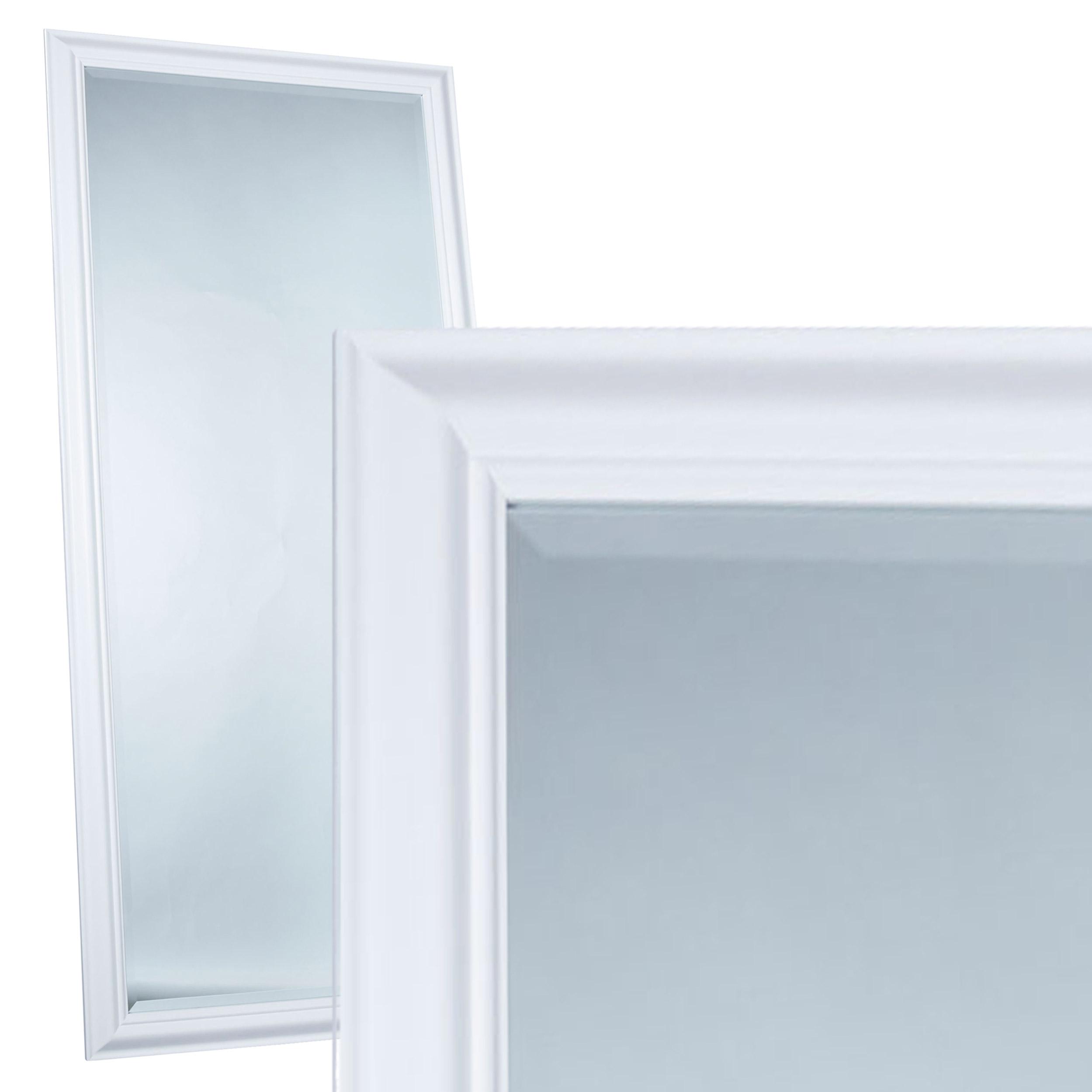 Wandspiegel spiegel ca 180 x 80 cm wei schlichter - Wandspiegel facettenschliff ...