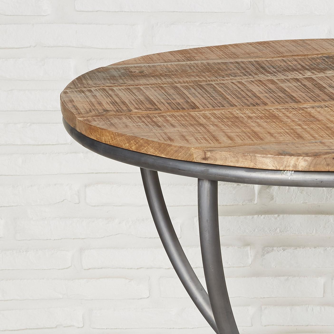 Esszimmertisch Rund 78 Cm Holz Metall Esstisch Runder