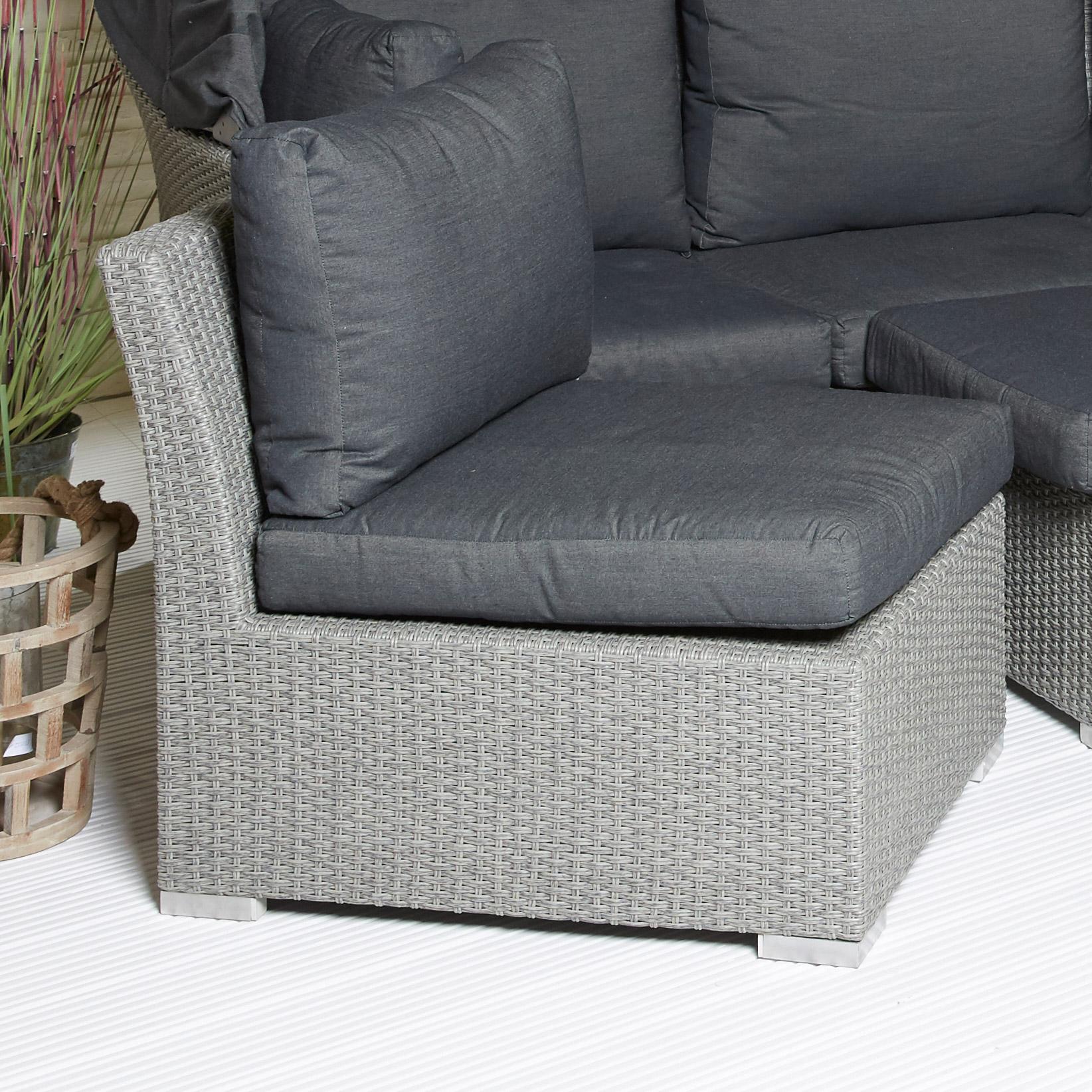 sonneninsel gartenset grau garten lounge garnitur sunbed. Black Bedroom Furniture Sets. Home Design Ideas