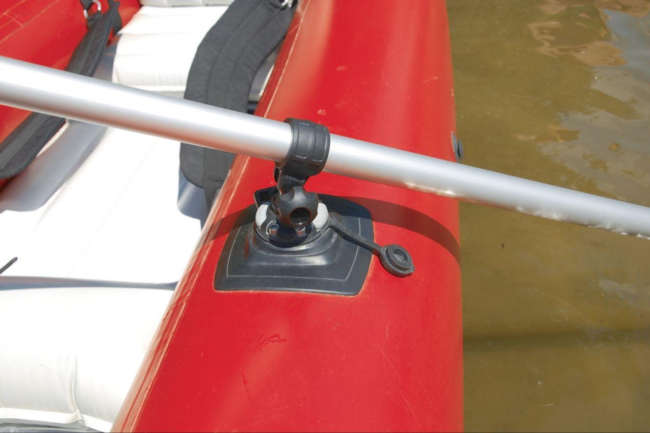 in schwarz Schlauchboot Paddel Halter Drehpunkt mit 11mm Loch grau o
