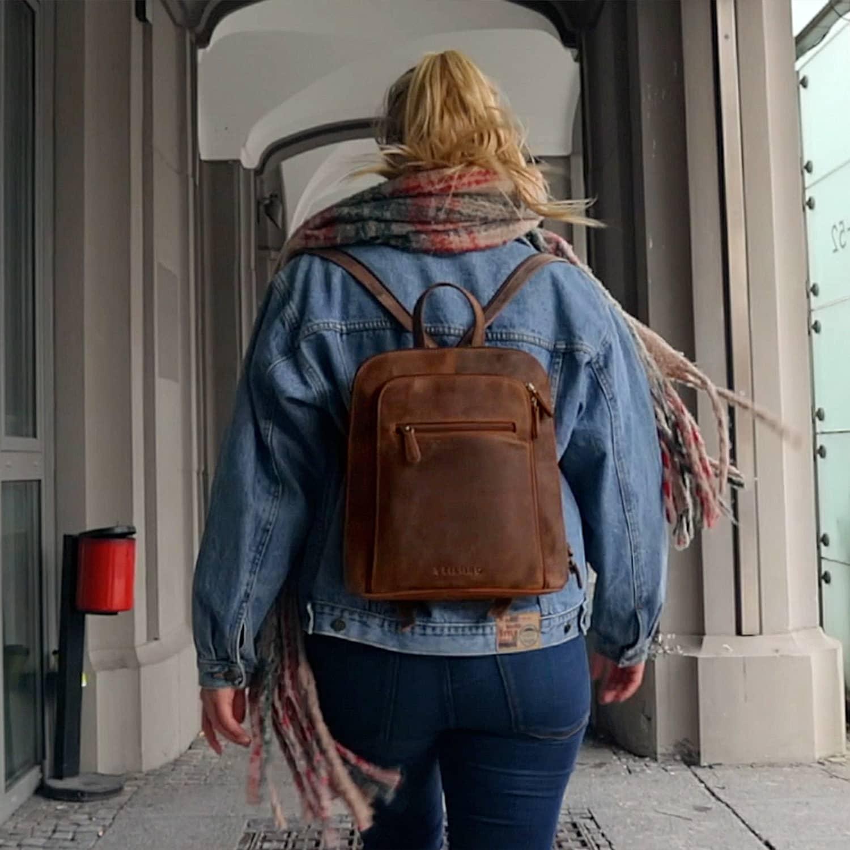 Vintage Damen Rucksack Handtasche